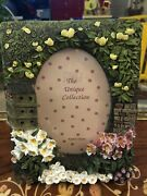 """The Unique Collection 3 ½"""" X 5"""" Photo Birdhouse Flowers Spring Picture Frame"""