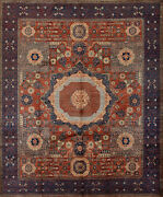 Mamluk Ziegler Rug 8and039x10and039 Red/blue Hand-knotted Wool Pile