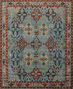 Sultanabad Ziegler Rug 8and039x10and039 Blue/grey Hand-knotted Wool Pile