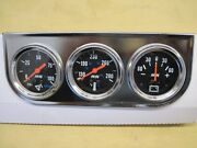 Triple Gauge Set Suitable For Most Cars Ford Chevrolet Chrysler Rally Mini