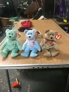 Beanie Babies Rare 1999 Signature Bear Ariel And Eggs Ii Mint Condition W Tags