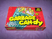 Vintage 1970`s Topps Garbage Candy - Red Box With Full Containers- Low Price Nr