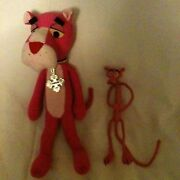 Lot 2 Vintage Pink Panther 11 Courage Badge Plush And 7 Bendie Vguc Stuffed
