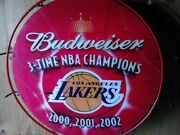 Budweiser 3-time Nba Champions Los Angeles Lakers 2000 2001 2002 Neon Sign Light
