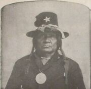 Comanche Indian Chief, Tosh-a-wah, Peace Medal, Stereoview