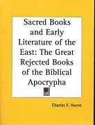 Sacred Books Of The East Rejected Books Of The Biblical Apocrypha As New