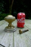 Vintage Solid Brass Large Decorative Front Door Pull Knob With Plate Project C