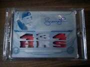 2019 Topps Triple Threads 1 Of 1 White Whale Andruw Jones Auto Triple Patch
