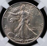 1929 D Walking Liberty Half Dollar Ngc Ms 61 Creamy White And A Much Better Date