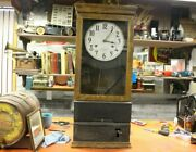 Antique 1920and039s Ibm International Time Recording Office Factory Time Punch Clock