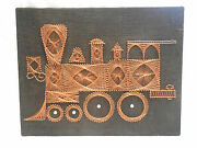 Awesome Beautiful Copper Wire Art Locomotive Train Wall Hanging 22 X 28