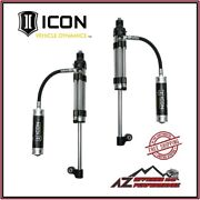 Icon 2.5 Omega Remote Reservoir Rear Shocks Pair For 05-21 Toyota Tacoma 59926p