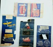 Vintage War Matches Match Covers Book Ww 2 Fort Knox George Field Camp San Luis