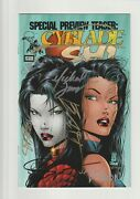 Cyblade/shi Nn Vf/nm 9.0 Preview Teaser 1st Witchblade 7x Signed Htf 1995