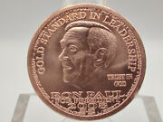 2008 Ron Paul For President Liberty Dollar Copper Round W/ Airtight Capsule 2