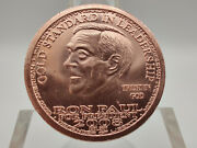 2008 Ron Paul For President Liberty Dollar Copper Round W/ Airtight Capsule 6