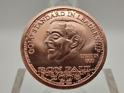 2008 Ron Paul For President Liberty Dollar Copper Round W/ Airtight Capsule 7