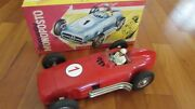 Jnf 1950and039s Tin Toy Race Car 13 Famous Mercedes Benz W 196 W. Germany 1980and039s Box
