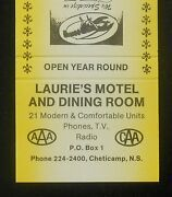 1980s Laurie's Motel And Dining Room Sea Food 21 Units Chéticamp Cheticamp Ns Ca