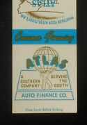 1950s Atlas Auto Finance Co. Serving The South 1309 Florida Ave. Globe Tampa Fl