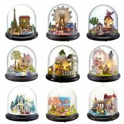Doll House Miniature Building Assemble Gift Birthday Christmas Children Toys