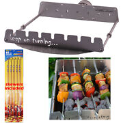 7 Skewer Motor Operated Rotisserie Set For 18 Weber Kettle Bbq Charcoal Grill
