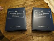Statehood Quarters Collection Postal Commemorative Society Vol 1 2 Complete