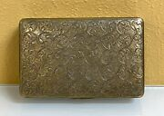 Russian Silver Tobacco/snuff Box With Gorgeous Detailing-- 3x2 Inches