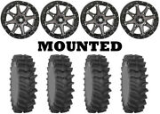 Kit 4 System 3 Xm310r Tires 34x9-20 On Sti Hd10 Smoke Wheels Ter