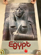 Original 1982 World's Fair Poster The Treasures Of Egypt Knoxville,tn Vintage