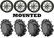 Kit 4 High Lifter Outlaw 3 Tires 35x9-20 On Sti Hd10 Machined Wheels Hp1k