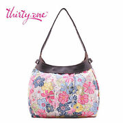 Thirty One City Skirt Purse Hobo Hand Tote Bag In Free Spirit Floral 31 Gift