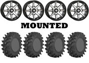 Kit 4 Sti Outback Max Tires 33x9-20 On Sti Hd10 Machined Wheels Can