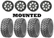 Kit 4 Maxxis Ceros Mu07 Tires 26x9-12/26x11-12 On Sti Hd3 Gloss Black Wheels Pol