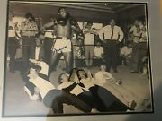 Muhammad Ali Autographed 16 X 20 Photo With The Beatles.perfect Aol-10 Signature