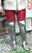Medieval Steel Leather Warrior Gothic Leg Armor Full Set Knight Greaves Armor S7