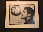Muhammad Ali Autographed 16x20 Photo With Howard Cosell.perfect Aol-10 Signature