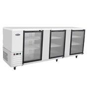 Atosa Mbb90g 89back Bar Bottle Coolers 3 Glass Door. Sntainless Steel