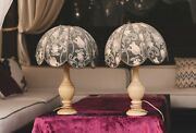 Pair Of Antique Bedside Lamps Bedroom Lamps Retro Nightstand Bedside Table Lamps