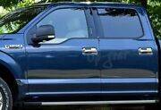 For 15-20 Ford F150 Mirror Chrome W/smart Key Hole Door Handle Cover Cap Trim