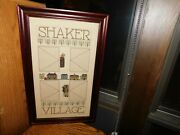 Shaker Village Cross Stitch Picture Handmade Amish Country Quaker Sampler