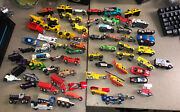 Hot Wheels Lot Of 95 Cars New/ Used Track System And Car Carrying Case