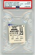 1978 Stanley Cup Final Ticket Stub Psa Boston Bruins Montreal Canadiens Nhl