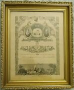 Victorian Gilded Plaster Frame With 1899 Marriage Certificate