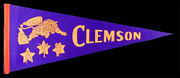 Clemson Tigers Rare Vintage Pennant 1960's Ncaa College Football Bowl Champs