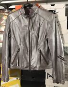 Womens Motor Harley-davidson Cycles An American Legend Purple Leather Jacket Med