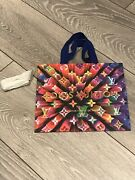 Louis Vuitton Holiday 2019 Multi Colour Shopping Tote Gift Small Bag + Ribbon
