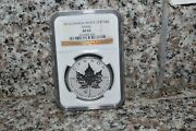 2013- Canada Maple Leaf With Snake Privy 1oz .9999 Fine Silver Ngc Sp-69.