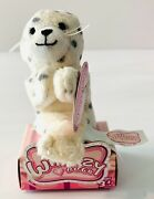 Whimzy Pets Baby Spotted Seal Snowflake Mini Plush New