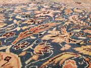 Stunning Early 1940and039s Antique Wool Pile Turqoise Color Hereke Area Rug 7x10ft